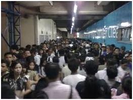 Taking the MRT and LRT