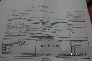 RayBan Philippines Reply to my Complaint - DENIED MORE THAN 6 MONTHS!