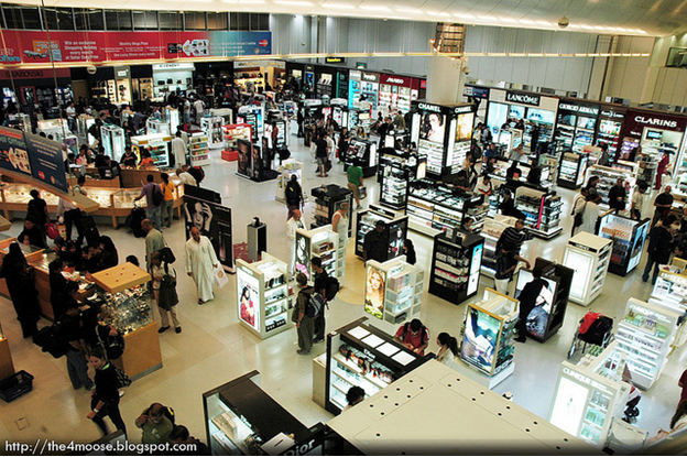 Do your shopping at the airport.