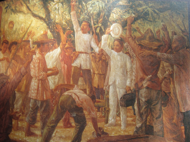 Andres Bonifacio had to wear ladies clothing.