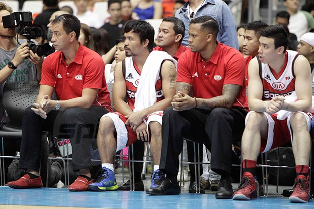 Pacquiao owns a D-League team in the PBA.