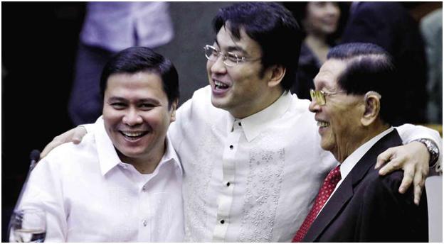 Senators Enrile, Estrada, Revilla