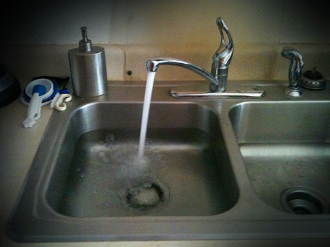 Fill your Sink with Water
