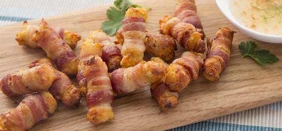 Bacon Wrapped Crab Bites