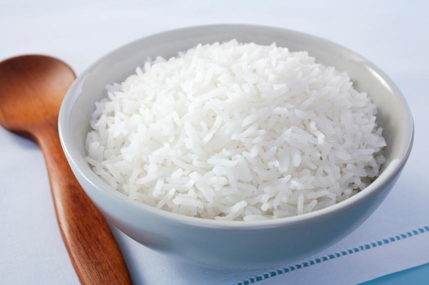 A bowl of plain basmati rice
