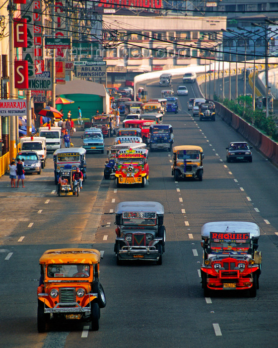 Manila city, Philippines - Jeepney busses - photo by B.Henry