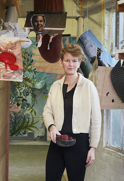 Artist Laure Prouvost in her studio in London's Hackney