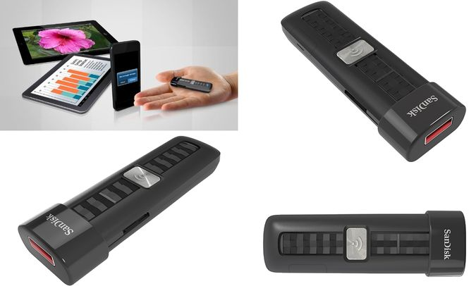 SanDisk Connect 16GB Wireless Portable Mobile Storage USB Flash Drive For Smartphones And Tablets With Free App Various View
